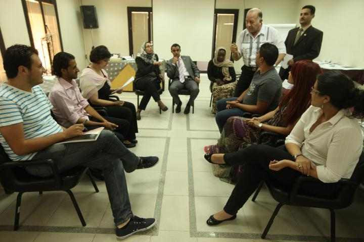 Participants from all over the Middle East participated in this peacebuilding training, offered last September by the Coptic Evangelical Organization of Social Services (CEOSS), an MCC partner in Egypt. Although formal trainings like this one are hampered by the current political violence in Egypt, many Christians and Muslim peacemakers are at work in communities and towns throughout Egypt.