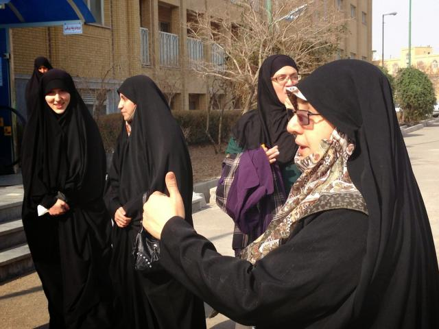 Mahnaz Heidarpour, a lecturer at Qom's Jami'at al-Zahra, the world's largest Shia Muslim women's seminary