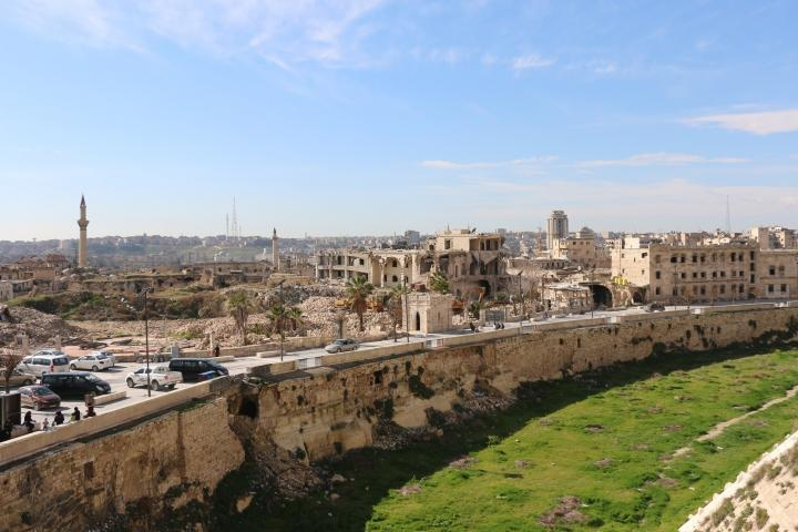 The citadel in Old Aleppo, Syria