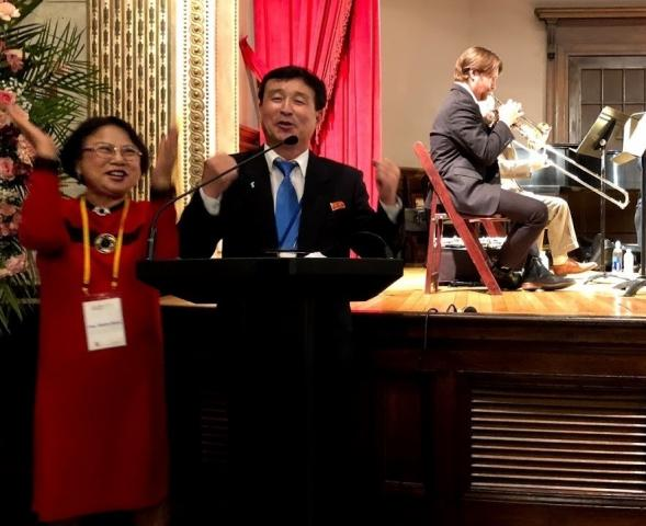 A Korean American and a North Korean Diplomat join together in song