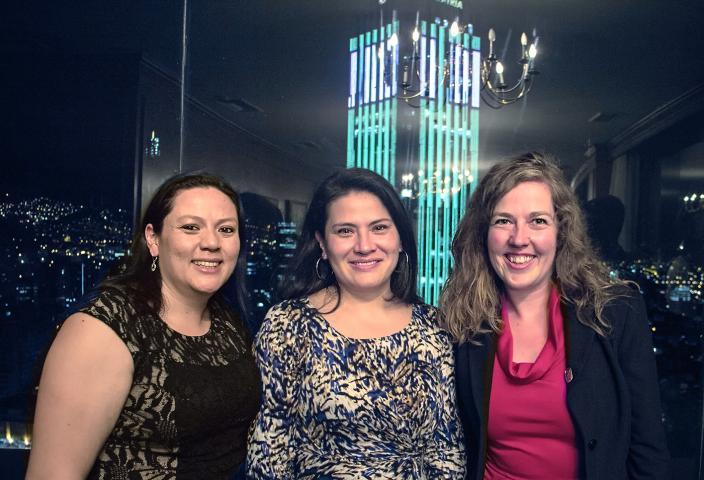 Angélica Rincón Alonso and Jenny Neme of MCC partner Justapaz and Anna Vogt